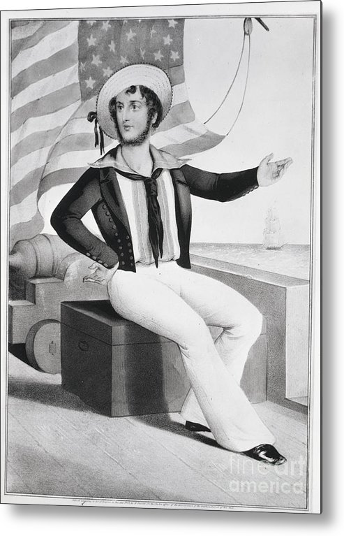 People Metal Print featuring the photograph American Sailor Lithograph by Bettmann
