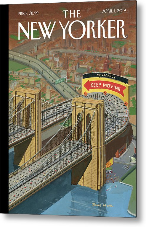 Brooklyn Or Bust Metal Print featuring the painting Brooklyn or Bust by Bruce McCall