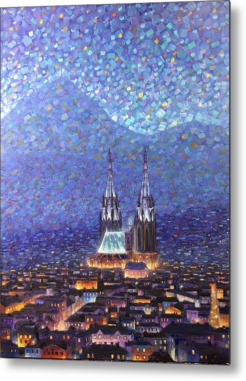 Rob Buntin Metal Print featuring the painting Cathedrale3 by Rob Buntin