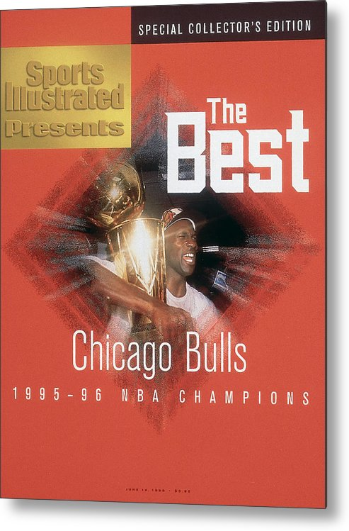 Playoffs Metal Print featuring the photograph Chicago Bulls Michael Jordan, 1996 Nba Finals Sports Illustrated Cover by Sports Illustrated