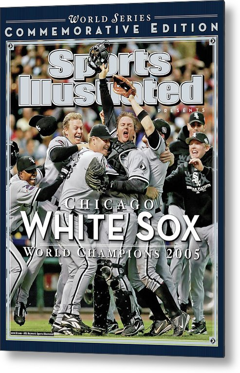 American League Baseball Metal Print featuring the photograph Chicago White Sox, 2005 World Series Champions Sports Illustrated Cover by Sports Illustrated