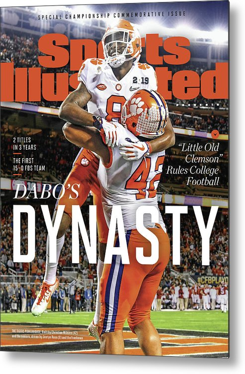 Championship Metal Print featuring the photograph Dabos Dynasty Clemson University, 2019 Cfp National Sports Illustrated Cover by Sports Illustrated