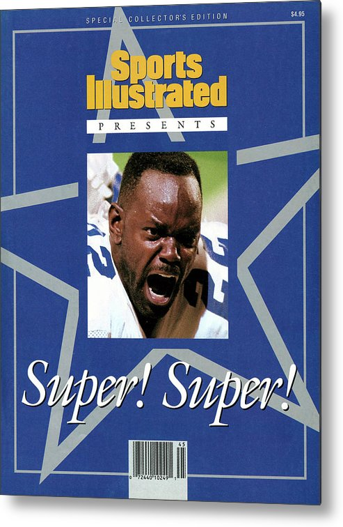 Atlanta Metal Print featuring the photograph Dallas Cowboys Emmitt Smith, Super Bowl Xxviii Sports Illustrated Cover by Sports Illustrated