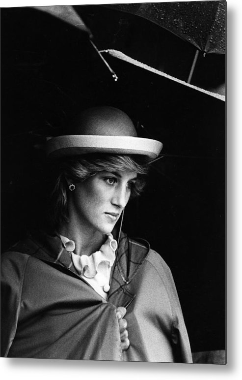 1980-1989 Metal Print featuring the photograph Diana In Rain by Hulton Archive