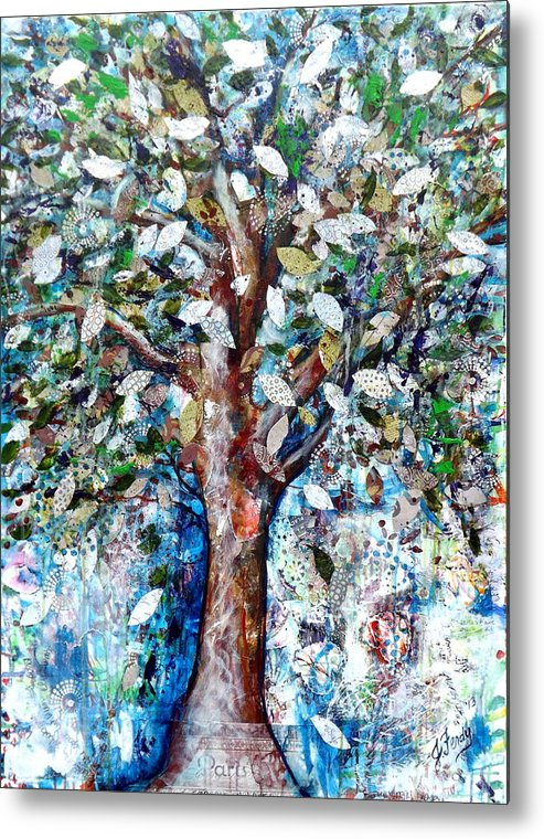 Tree Prints Metal Print featuring the painting Dream A Little Dream by Goddess Rockstar