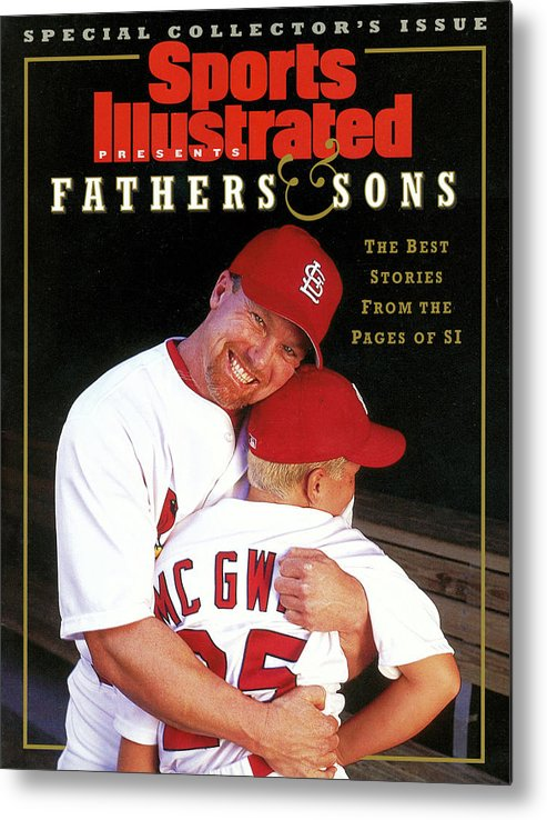 People Metal Print featuring the photograph Fathers And Sons The Best Stories From The Pages Of Si Sports Illustrated Cover by Sports Illustrated