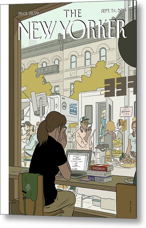 Fourth Wall Metal Print featuring the painting Fourth Wall by Adrian Tomine