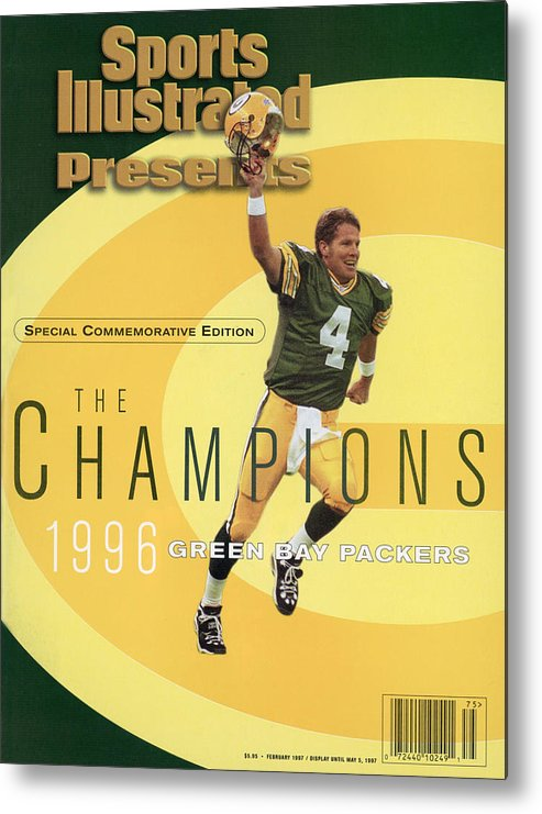 Super Bowl Xxxi Metal Print featuring the photograph Green Bay Packers Qb Brett Favre, Super Bowl Xxxi Sports Illustrated Cover by Sports Illustrated