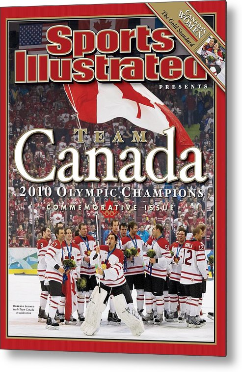 The Olympic Games Metal Print featuring the photograph Ice Hockey, 2010 Winter Olympics Sports Illustrated Cover by Sports Illustrated