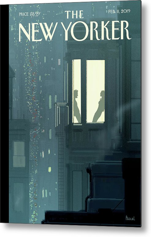Love Interest Metal Print featuring the painting Love Interest by Pascal Campion