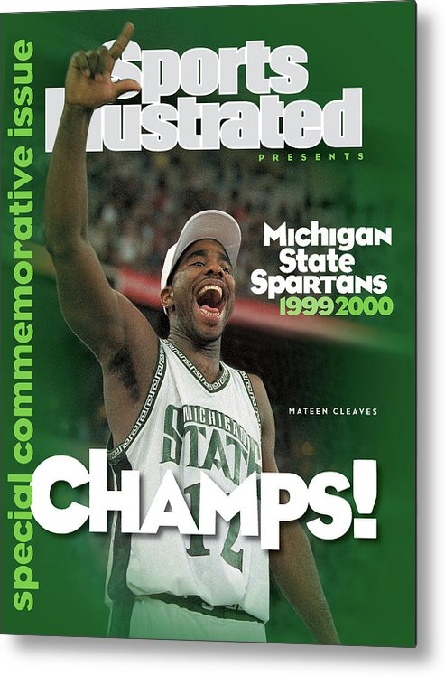 Michigan State University Metal Print featuring the photograph Michigan State University Mateen Cleaves, 2000 Ncaa Sports Illustrated Cover by Sports Illustrated