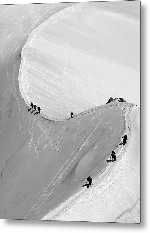 Scenics Metal Print featuring the photograph Mont Blanc by Yanis Ourabah