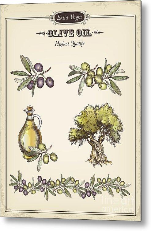 Olive Metal Print featuring the digital art Olive by Tatarnikova