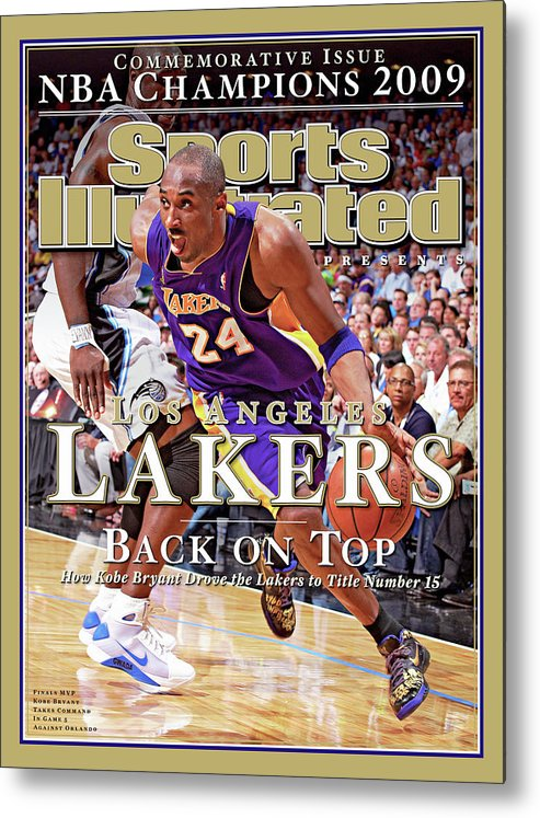 Playoffs Metal Print featuring the photograph Orlando Magic Vs Los Angeles Lakers, 2009 Nba Finals Sports Illustrated Cover by Sports Illustrated