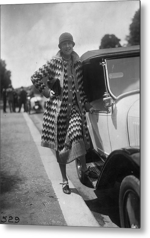 Sweater Metal Print featuring the photograph Outfit By Paquin by Seeberger Freres