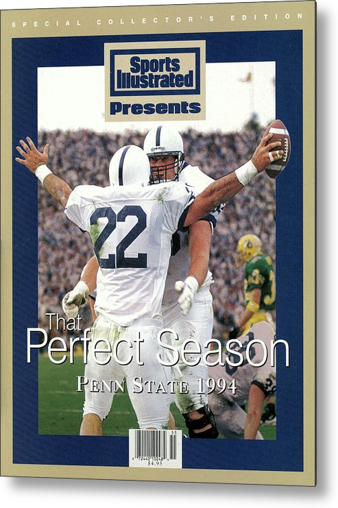 People Metal Print featuring the photograph Penn State University Brian Milne, 1994 Ncaa Perfect Season Sports Illustrated Cover by Sports Illustrated