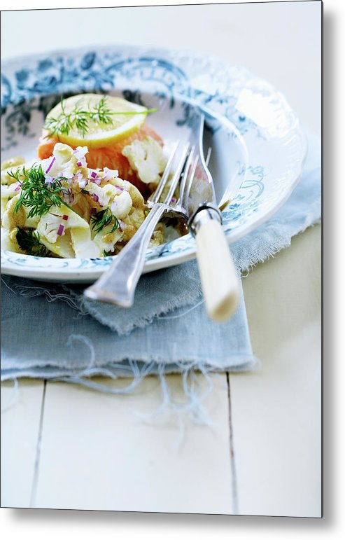 Copenhagen Metal Print featuring the photograph Plate Of Pasta With Fish by Line Klein