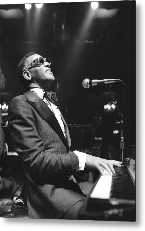 San Francisco Metal Print featuring the photograph Ray Charles Performing by Tom Copi