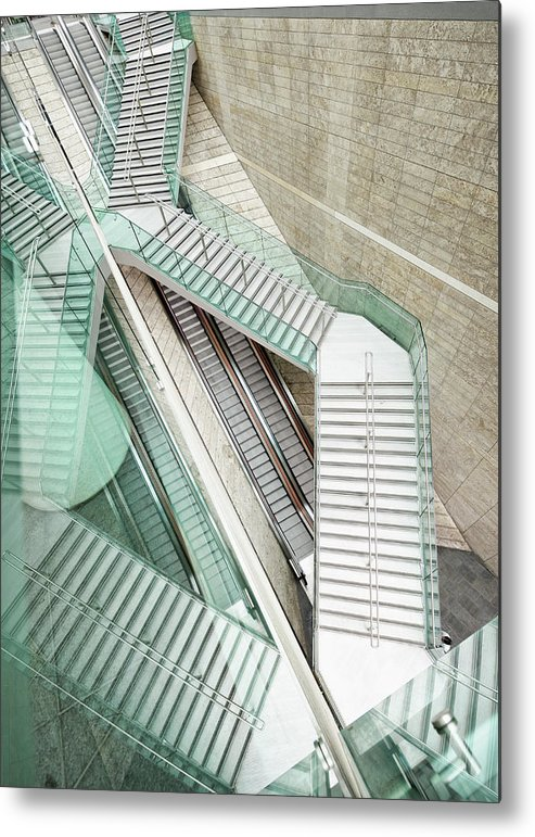 Long Metal Print featuring the photograph Reflected Modern Architecture - Winding by Georgeclerk