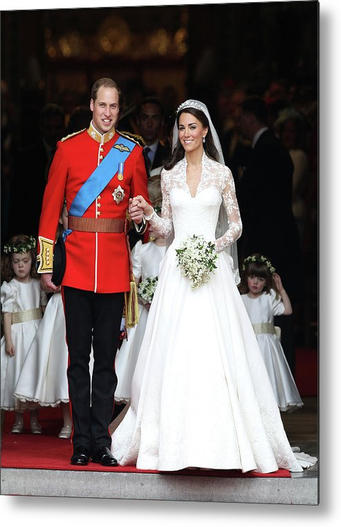 Following Metal Print featuring the photograph Royal Wedding - Carriage Procession To by Chris Jackson