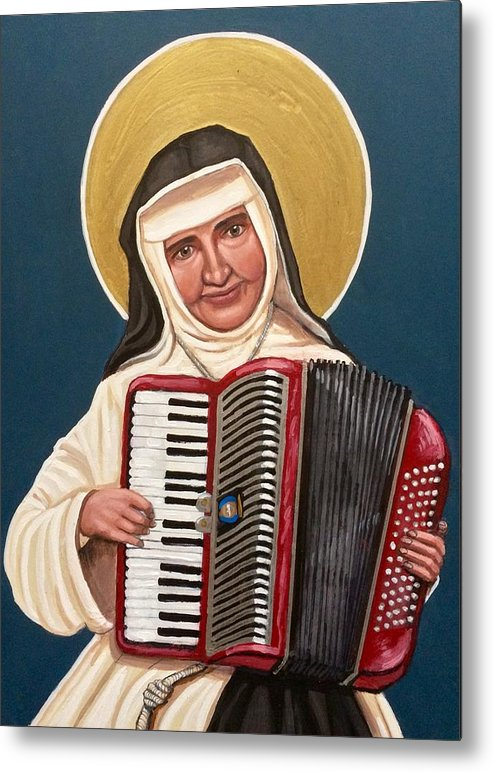 Metal Print featuring the painting Saint Dulce of the Poor by Kelly Latimore