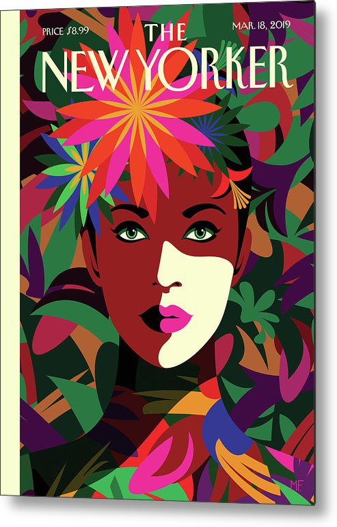 Spring To Mind Metal Print featuring the drawing Spring To Mind by Malika Favre
