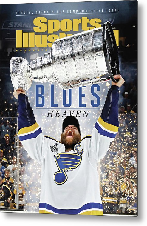 Playoffs Metal Print featuring the photograph St. Louis Blues, 2019 Nhl Stanley Cup Champions Sports Illustrated Cover by Sports Illustrated