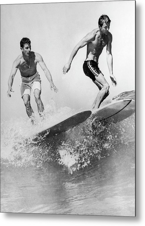 Australia Metal Print featuring the photograph Surf Board With Super-slick 1961 by Keystone-france
