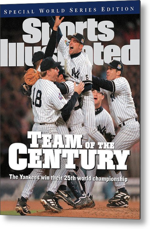 American League Baseball Metal Print featuring the photograph Team Of The Century 1999 World Series Champions Sports Illustrated Cover by Sports Illustrated