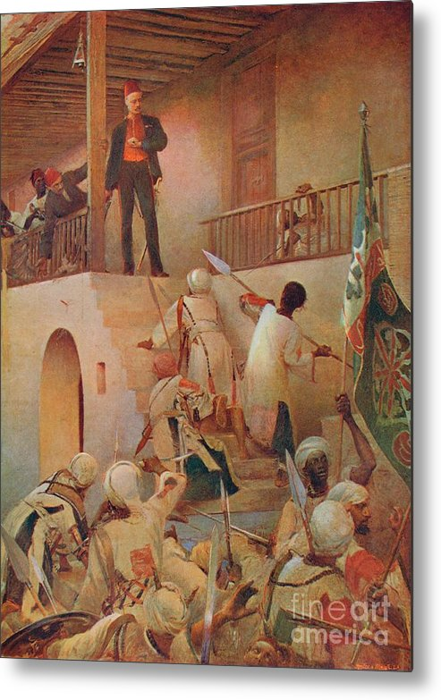 Criminal Metal Print featuring the drawing The Death Of General Gordon, Khartoum by Print Collector