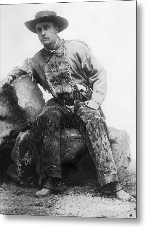People Metal Print featuring the photograph Theodore Roosevelt In Cowpoke Outfit by Bettmann