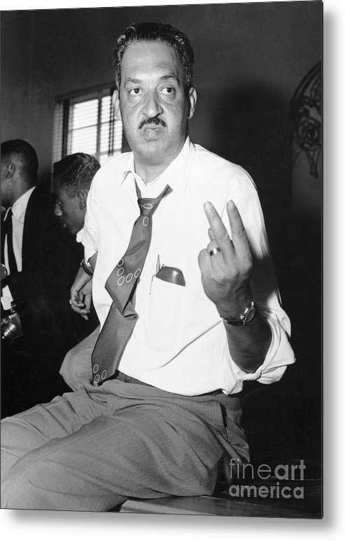 Atlanta Metal Print featuring the photograph Thurgood Marshall At Naacp Meeting by Bettmann