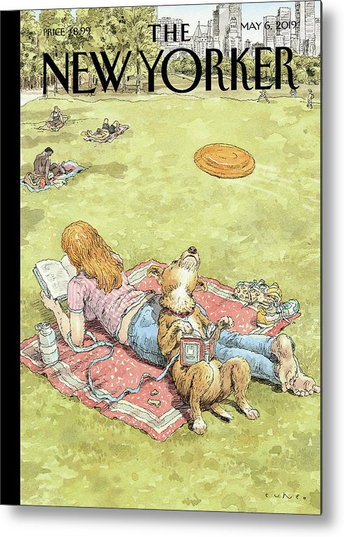 To Fetch Or Not To Fetch Metal Print featuring the painting To Fetch or Not to Fetch by John Cuneo