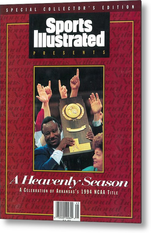 North Carolina Metal Print featuring the photograph University Of Arkansas Coach Nolan Richardson, 1994 Ncaa Sports Illustrated Cover by Sports Illustrated