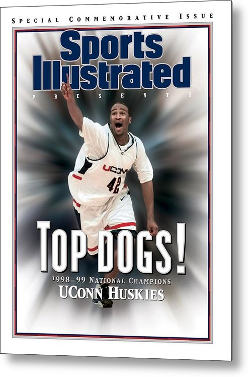 Florida Metal Print featuring the photograph University Of Connecticut Khalid El-amin, 1999 Ncaa Sports Illustrated Cover by Sports Illustrated