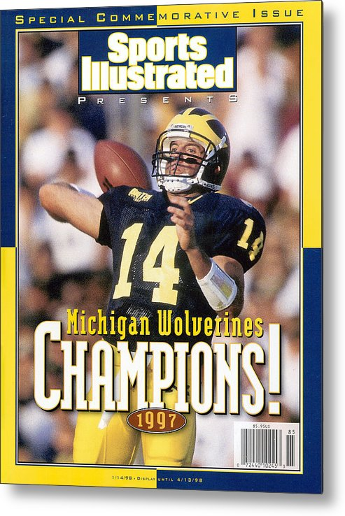 Brian Griese Metal Print featuring the photograph University Of Michigan Qb Brian Griese, 1997 Ncaa National Sports Illustrated Cover by Sports Illustrated