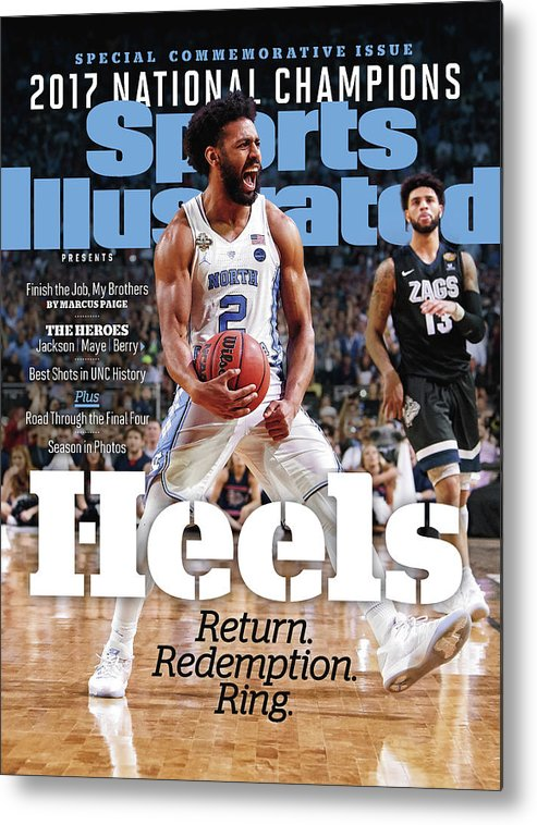 Basketball Metal Print featuring the photograph University Of North Carolina, 2017 Ncaa National Champions Sports Illustrated Cover by Sports Illustrated