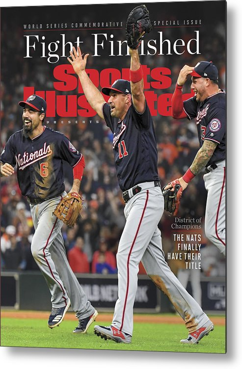 Championship Metal Print featuring the photograph Washington Nationals, 2019 World Series Champions Sports Illustrated Cover by Sports Illustrated