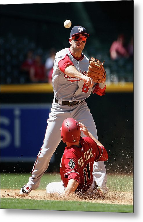 Double Play Metal Print featuring the photograph A. J. Pollock by Christian Petersen