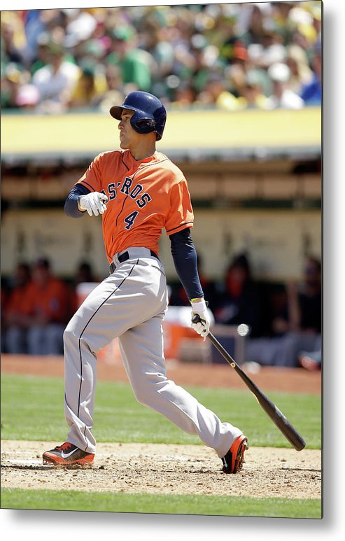 American League Baseball Metal Print featuring the photograph George Springer by Ezra Shaw