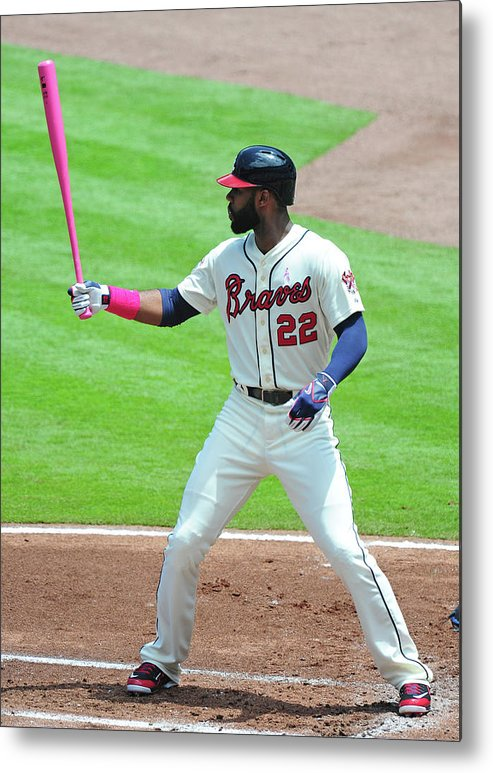 Atlanta Metal Print featuring the photograph Jason Heyward by Scott Cunningham