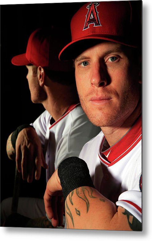 Media Day Metal Print featuring the photograph Josh Hamilton by Jamie Squire