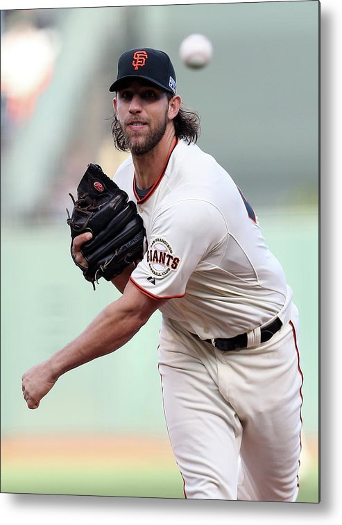 Playoffs Metal Print featuring the photograph Madison Bumgarner by Christian Petersen