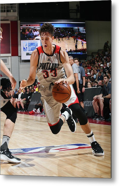 Nba Pro Basketball Metal Print featuring the photograph Zach Collins by Noah Graham