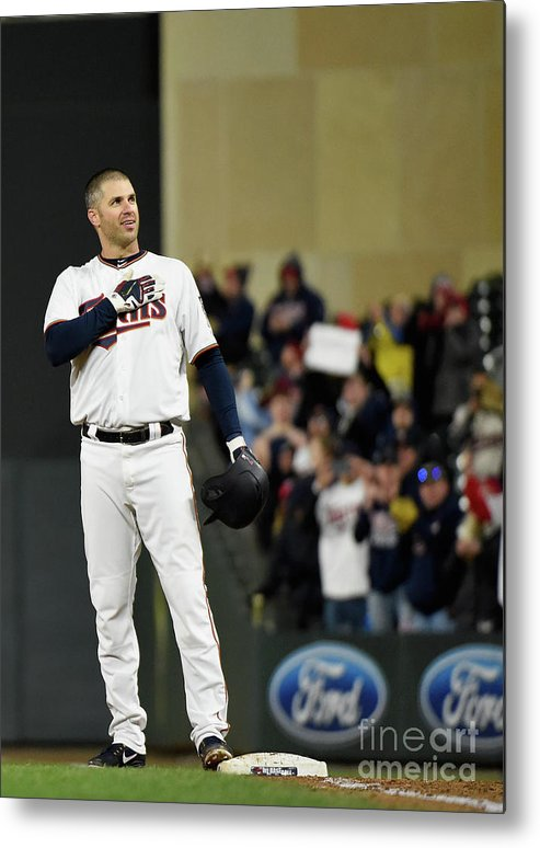 Joe Mauer Metal Print featuring the photograph Joe Mauer by Hannah Foslien