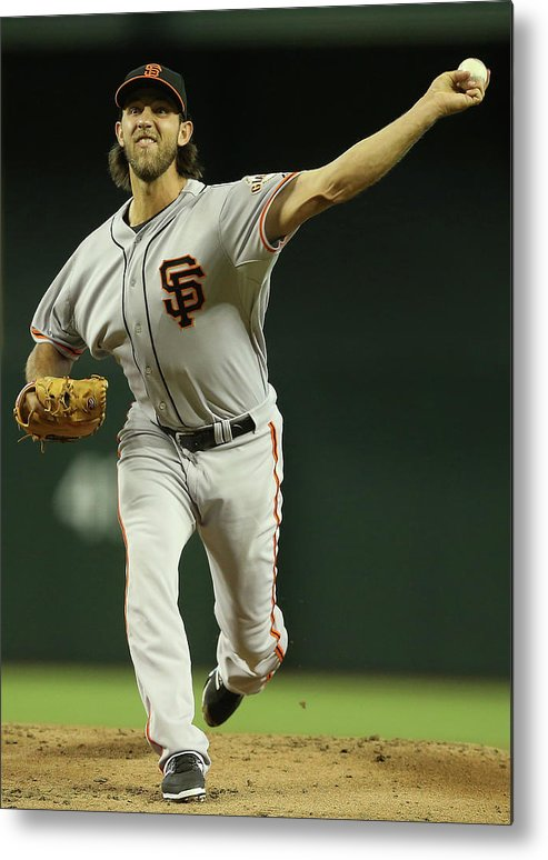 Baseball Pitcher Metal Print featuring the photograph Madison Bumgarner by Christian Petersen