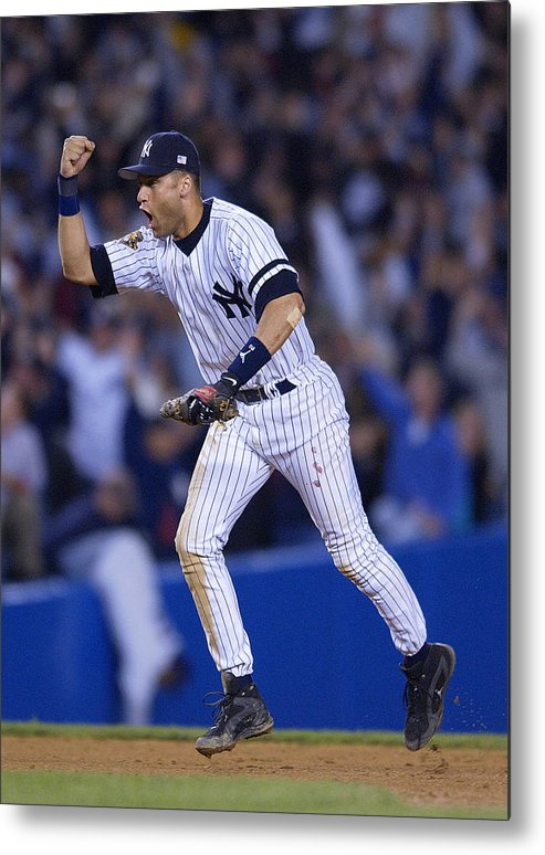 People Metal Print featuring the photograph Derek Jeter by Ezra Shaw