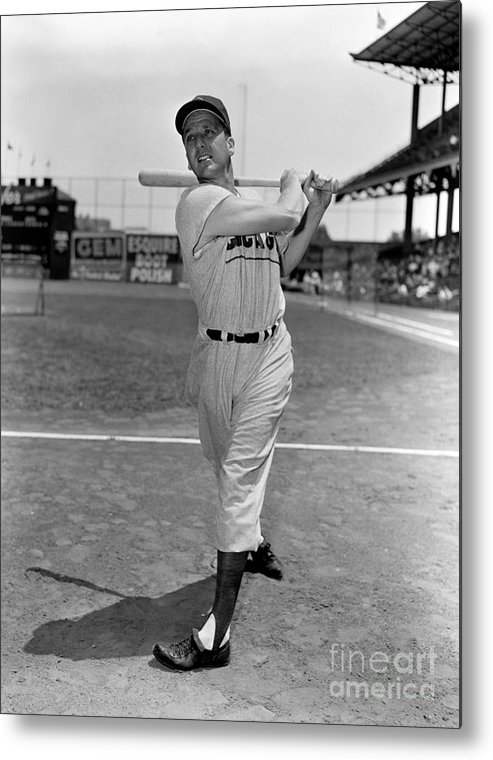 People Metal Print featuring the photograph Ralph Kiner by Kidwiler Collection