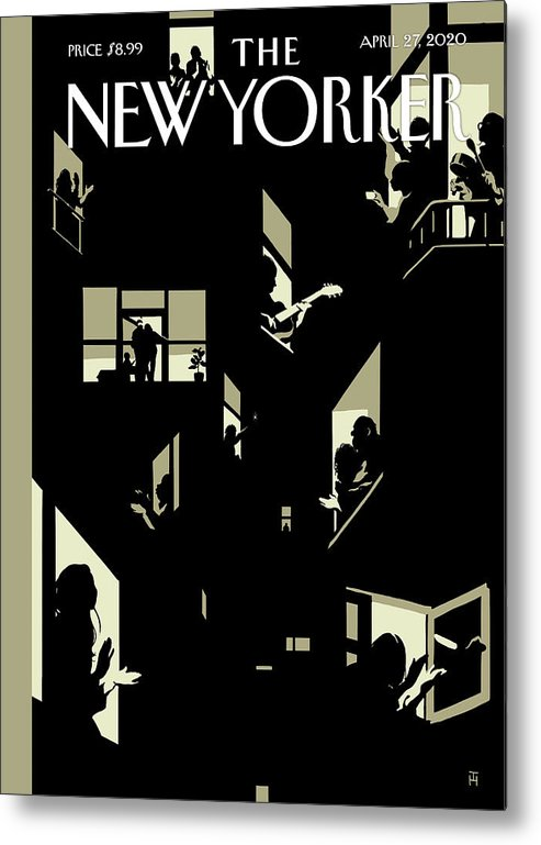 City Metal Print featuring the digital art A Chorus Of Thanks by Tomer Hanuka