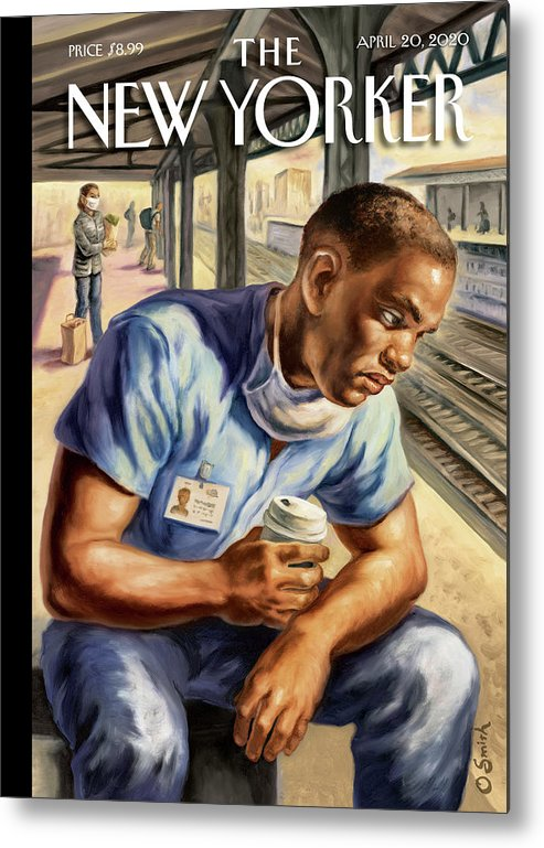 Health Metal Print featuring the painting After The Shift by Owen Smith